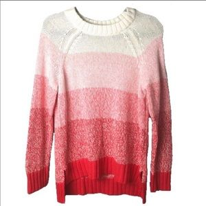 Aerie Striped Ombre Knit Sweater